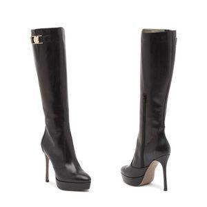 VERSACE Platform Leather Boots Brand New